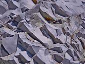 Rocks Background Stone Texture Pattern. Rocky Ground Stone Structure. Natural Stone Texture Rock Wal poster