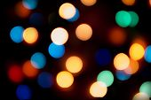 Color Bokeh With Defocused Garland.christmas Lights Defocused Background poster