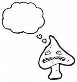 cartoon crazy magic mushroom