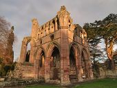 Abbey Ruins Sunset Chapel Side View