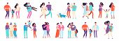 Different Families. Arab, Caucasian, Mixed Couples. Heterosexual And Homosexual Families With Kids A poster