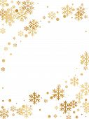 Winter Snowflakes And Circles Border Vector Illustration. Unusual Gradient Snow Flakes Isolated Flye poster