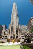stock photo of rockefeller  - NEW YORK CITY  - JPG