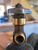 Closeup Of Oxygen Tank Valve For Industry