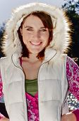 Woman With Furry Hood poster