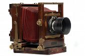 Vintage Wood Frame Photo Camera