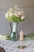 bridal bouquet in a vase