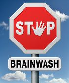 stock photo of brainwashing  - stop brainwash - JPG
