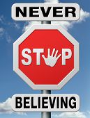 stock photo of jesus sign  - believing - JPG