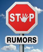 stop rumors and gossip