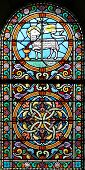 The Sacrificed Lamb (stained Glass Window) poster