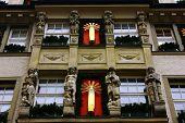 Detalle de un edificio antiguo en Munich, Alemania
