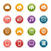 Colored Dots - Cloud computing Icons