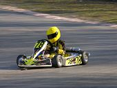 Yellow And Black Go Kart