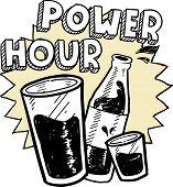 Power hour alcohol sketch