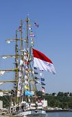 Indonesian Tall Ship Dewaruci during Fleet Week on May 29, 2012 in Staten Island, New York.