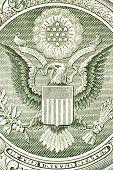 Eagle on the dollar bill, macro