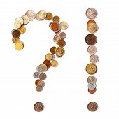 question and exclamation marks from coins