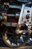 foto of piston-rod  - Close up of steam train piston and rod mechanism - JPG