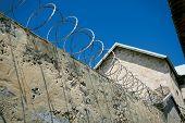 Razor Wire Prison Wall
