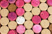 Wine corks close-up background