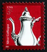 Postage Stamp Usa 2007 Silver Coffeepot