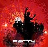 Music Party Background. Vector