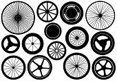 Illustration of different wheels