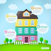 Abstract House Infographics Design