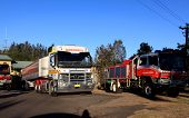 Fire Engines And Support Vehicles At Regentville Station