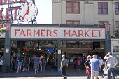 Seattle, USA-Aug 2012. Pike place market