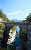 Bridge On The Soca River, Slovenia