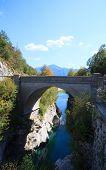 Bridge On The Soca River, Slovenia