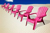 Pink Chairs in the Desert
