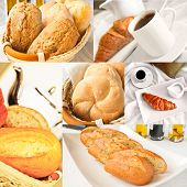 Fresh Bread - Collage Of Six Photos
