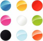 Multicolored Star Badges