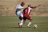 BLOEMFONTEIN, SOUTH AFRICA - AUGUST 7: Unidentified players during a men's soccer match between the