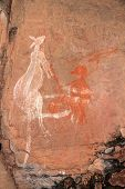 Aboriginal rock art depicting a kangaroo at Nourlangie, Kakadu National Park, Northern Territory, Au