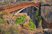Bridge over the canyon at the Bourkes Luck potholes in the Blyde river, Mpumalanga, South Africa