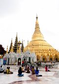 Swedagon Paya at dawn in Yangon, Myanmar