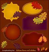 Autumn Scrapbook stickers