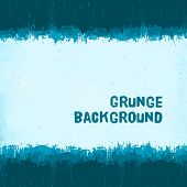 vintage blue winter grunge background