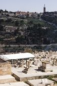 Photo Arab Cemetery In The Old City Of Jerusalem.