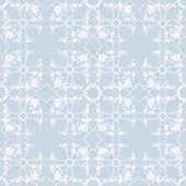 Neutral Blue Floral Background. Swirl And Curve