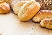 Different Bakery Products Bread Rolls Grain