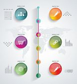 Timeline Infographic. Vector Design Template.