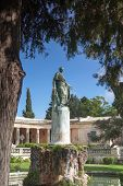 General Sir Frederick Adam's statue in front of the Museum of Asian Art, Corfu Town. As governor of