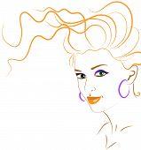 Orange Woman Silhouette