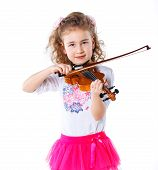 Girl little violinist