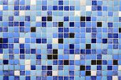 Background created with a blue tiled wall